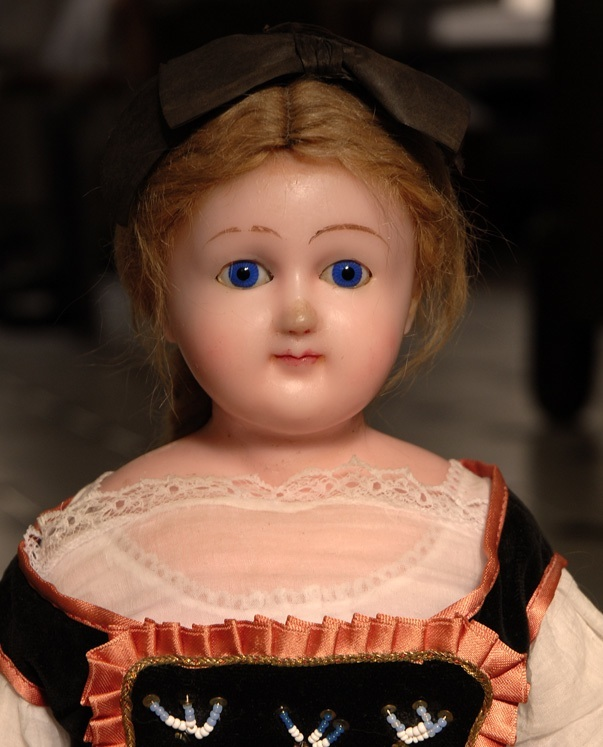 Big german wax antique doll