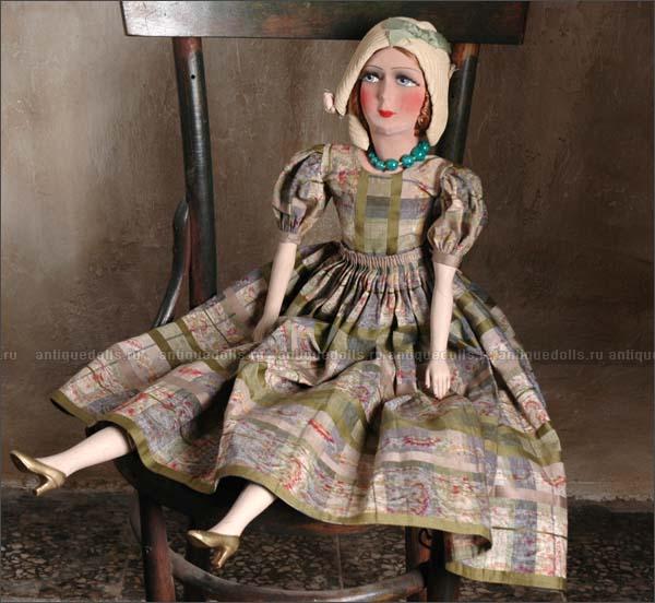 французская САЛОННАЯ (БУДУАРНАЯ) кукла, 1920-е годы