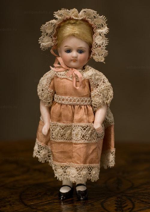 Фарфоровая кукла Mignonette, Германия, фирма КЕСТНЕР, 1898 год, 12 см