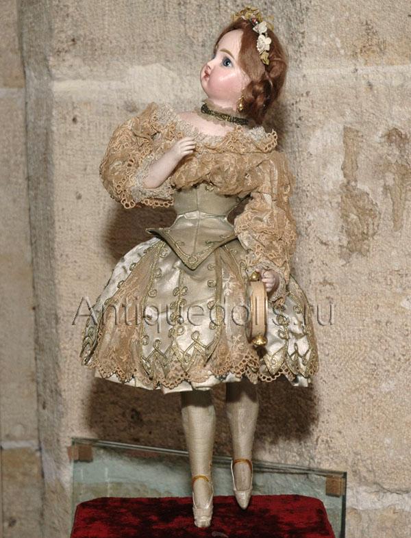 """Музыкальная кукла-автомат  """"БАЛЕРИНА """".  Производитель Roulett & Decamps, оригинальный костюм, кукла с закрытым ртом..."""